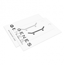 Translucent plastic hang labels