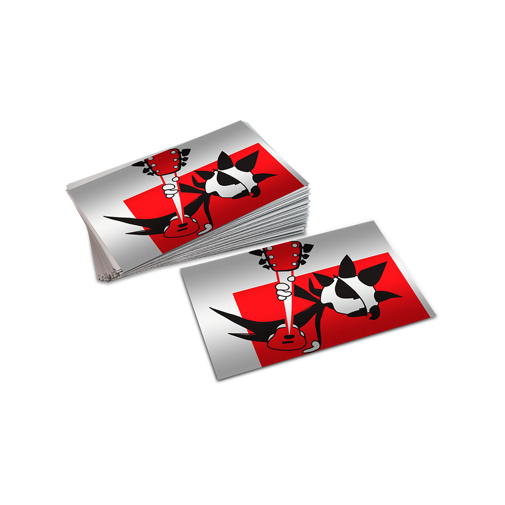 Lenticular business cards - flip flop - Liceo Grafico