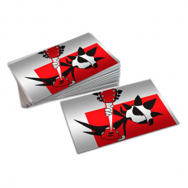 Metallized business cards