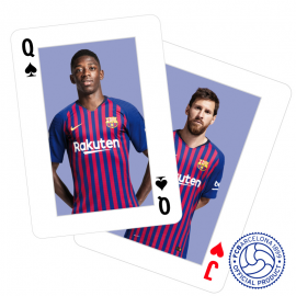 FC Barcelona poker playing cards