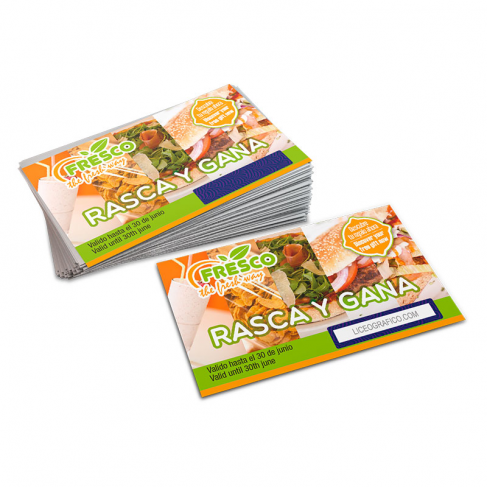 Scratch off cards with variable data