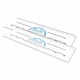 Translucent plastic rulers