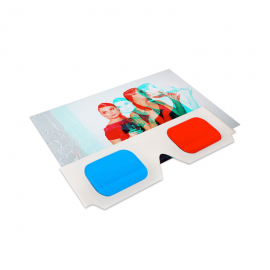 3D anaglyph postcards