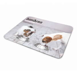 Witte plastic placemats