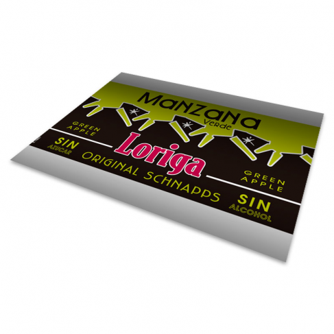Metallized paper roll labels